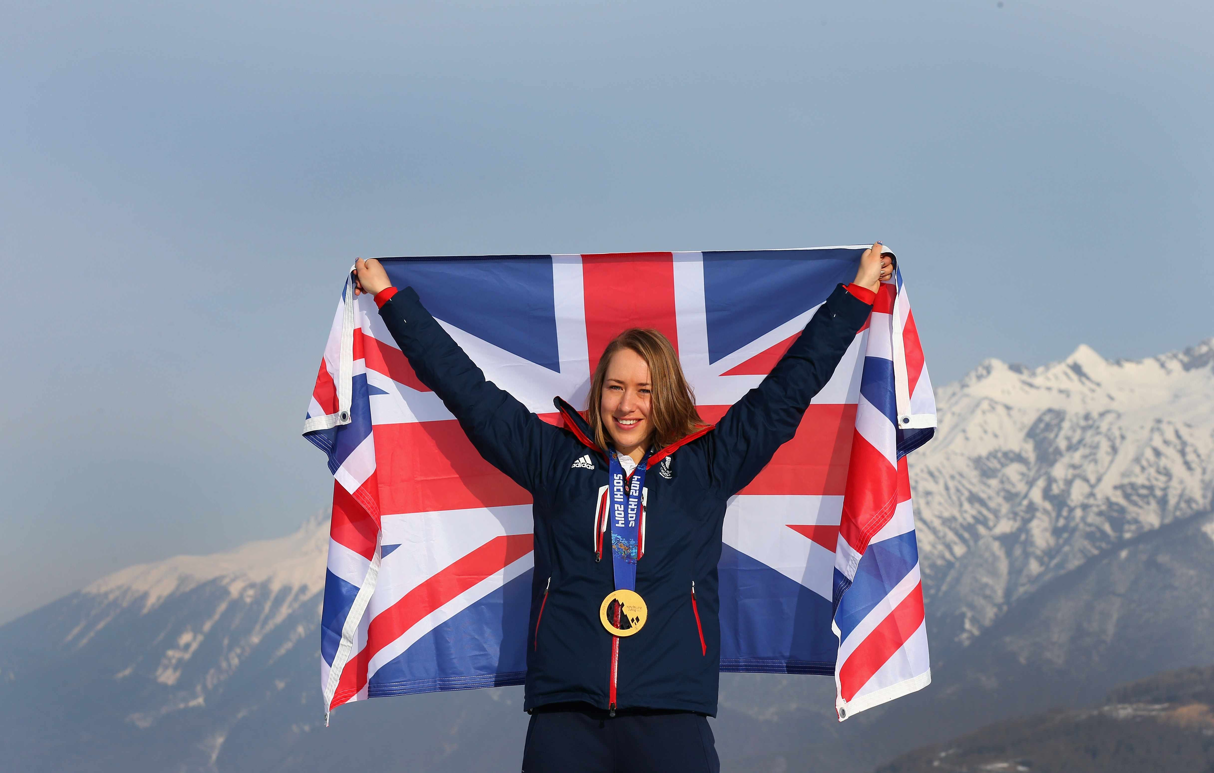 Lizzy Yarnold Winter Olympics gold medal Sochi 2014