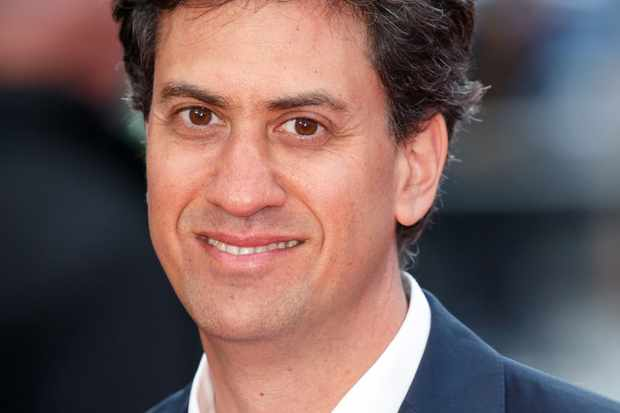 LONDON, UNITED KINGDOM - APRIL 12: (EMBARGOED FOR PUBLICATION IN UK NEWSPAPERS UNTIL 48 HOURS AFTER CREATE DATE AND TIME) Ed Miliband arrives for the UK film premiere of 'Florence Foster Jenkins' at Odeon Leicester Square on April 12, 2016 in London, England. (Photo by Max Mumby/Indigo/Getty Images)