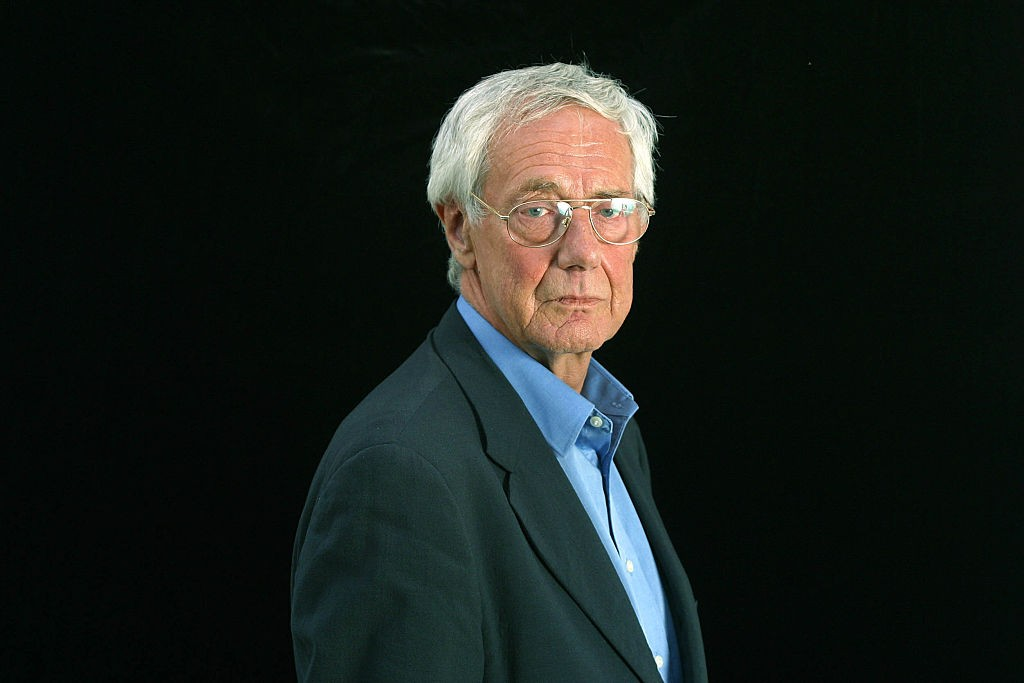 """British film critic and television personality Barry Norman, pictured at the Edinburgh International Book Festival where he talked about his memoir entitled """"And Why Not?."""" The Book Festival is the world's biggest literary festival with appearances by over 500 authors from across the world. (Photo by Colin McPherson/Corbis via Getty Images)"""