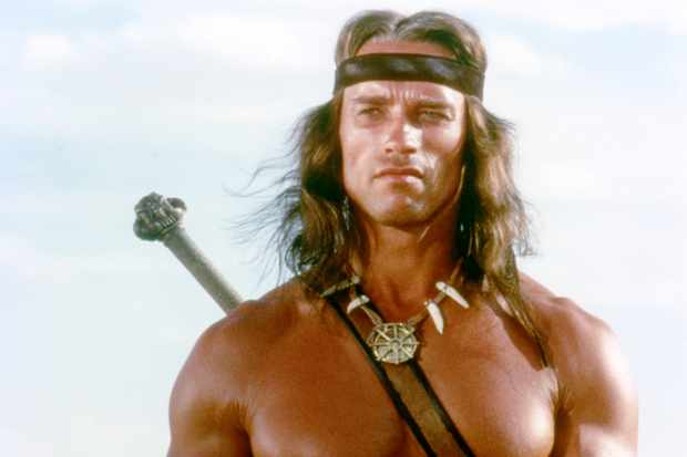 Arnold Schwarzenegger on the set of Conan the Barbarian (Getty, EH)