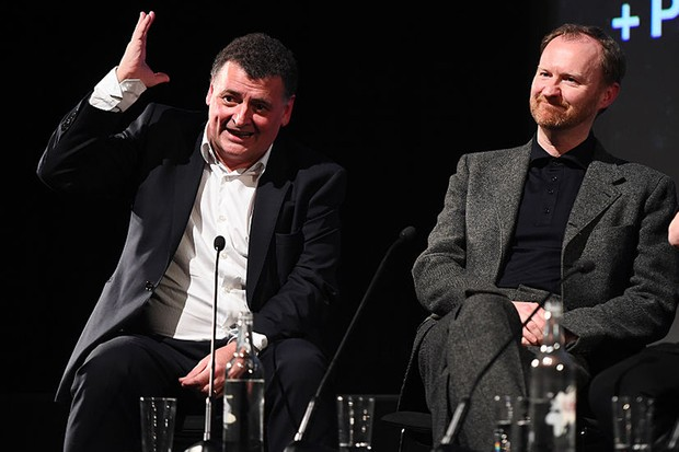 Steven Moffat and Mark Gatiss at a Sherlock screening in 2017 (Getty, HF)