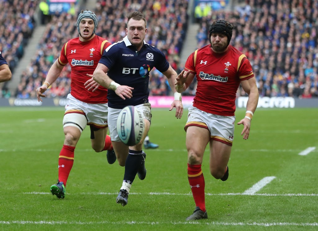 during the RBS Six Nations match between Scotland and Wales at Murrayfield Stadium on February 25, 2017 in Edinburgh, Scotland.