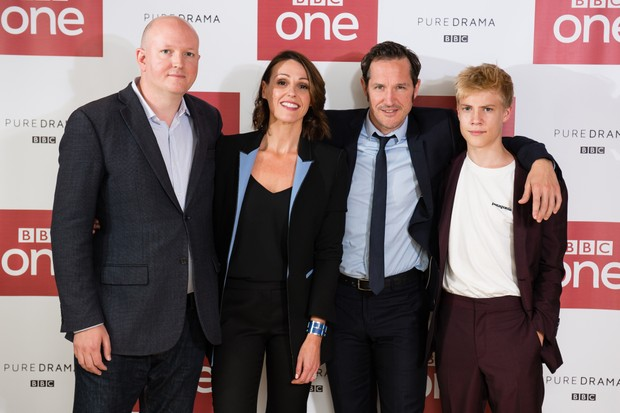 Doctor Foster's Mike Bartlett, Suranne Jones, Bertie Carvel and Tom Taylor (Getty, TL)