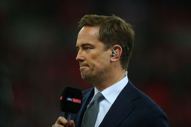 LONDON, ENGLAND - OCTOBER 25: Simon Thomas presents for Sky Sports during the Carabao Cup Fourth Round match between Tottenham Hotspur and West Ham United at Wembley Stadium on October 25, 2017 in London, England. (Photo by Catherine Ivill - AMA/Getty Images)