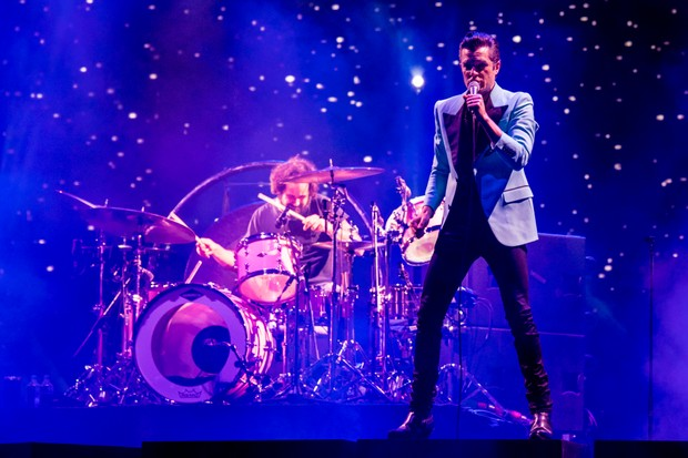 Brandon Flowers of The Killers performs during the 2017 Voodoo Music + Arts Experience in New Orleans
