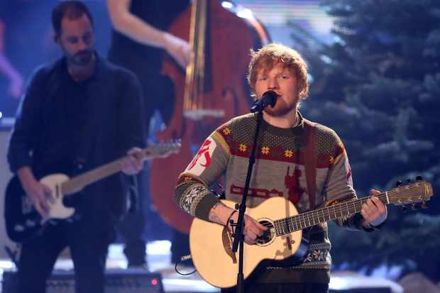 Ed Sheeran at The Voice of Germany finals, Berlin, 2017