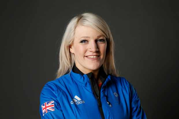 STOCKPORT, ENGLAND - JANUARY 22: Elise Christie poses during Team GB Kitting Out Ahead Of Pyeongchang 2018 Winter Olympic Games on January 22, 2018 in Stockport, England.  (Photo by Patrick Elmont/Getty Images)  Getty, TL