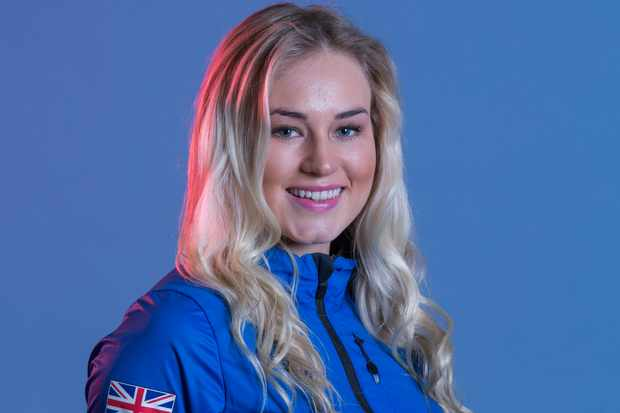 Katie Ormerod during GB Park & Pipe Winter Olympic official Adidas kitting out day on 24th January 2018 in Stockport, United Kingdom. (photo by Sam Mellish /In Pictures via Getty Images)