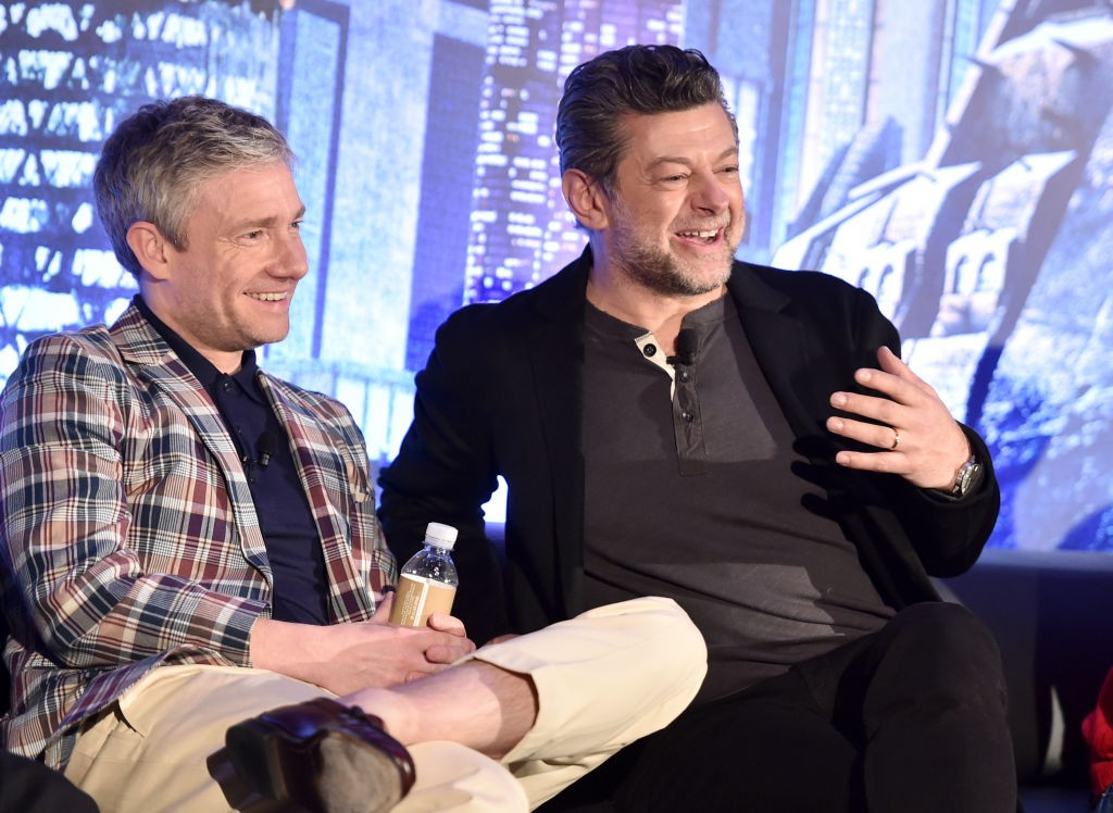 Martin Freeman and Andy Serkis at the Black Panther junket