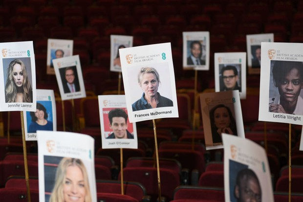 LONDON, ENGLAND - FEBRUARY 15:  The seating plan is revealed during the EE British Academy Film Awards 'Heads On Sticks' photocall at Royal Albert Hall on February 15, 2018 in London, England. The BAFTAs take place on Sunday, February 18.  (Photo by Stuart C. Wilson/Getty Images)