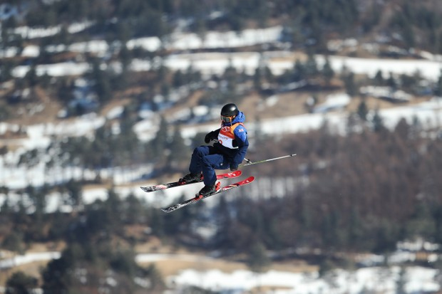 Isabel Atkin competes during the Freestyle Skiing at the 2018 Winter Olympic Games