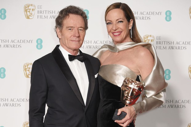 Bryan Cranston presented Allison Janney with the Bafta award for Best Supporting Actress