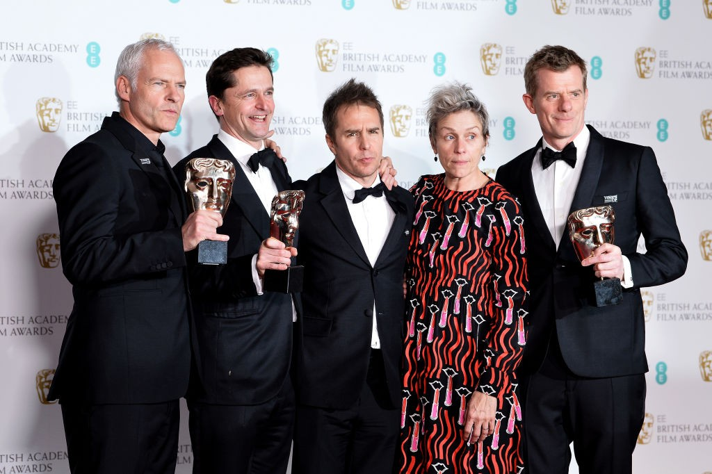 Three Billboards wins 5 awards at Bafta 2018