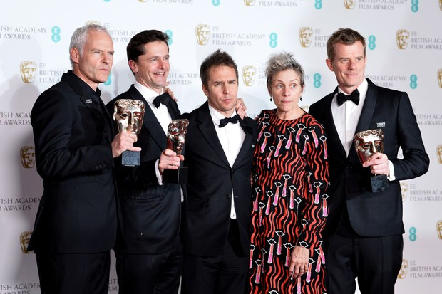 Three Billboards wins 5 awards at Bafta 2018