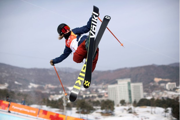 Maddie Bowman in action during the Freestyle Skiing Halfpipe Qualification (Getty, JG)