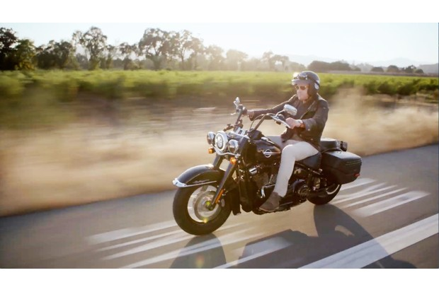 Riding a Harley-Davidson through California's wine country