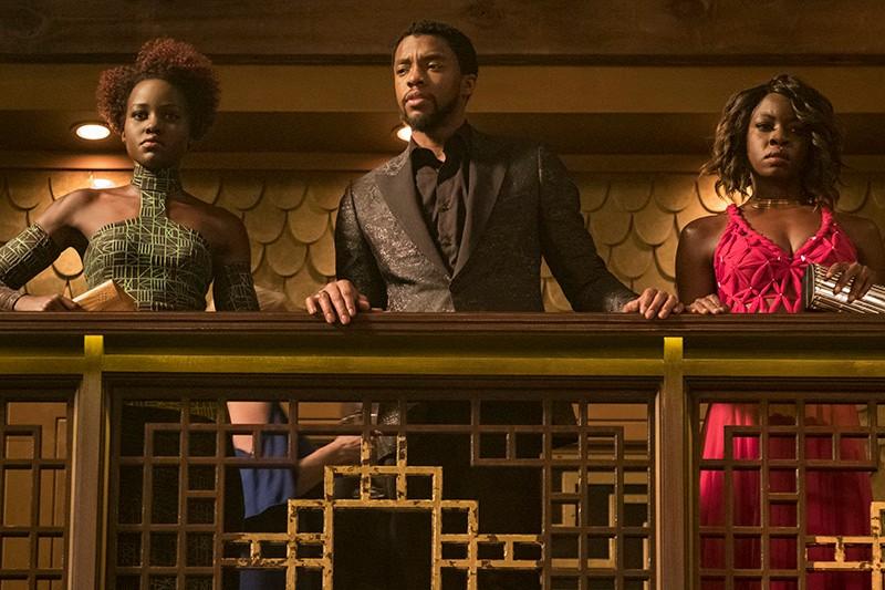 Lupita Nyong'o, Chadwick Boseman and Danai Gurira in Black Panther (Marvel, HF)