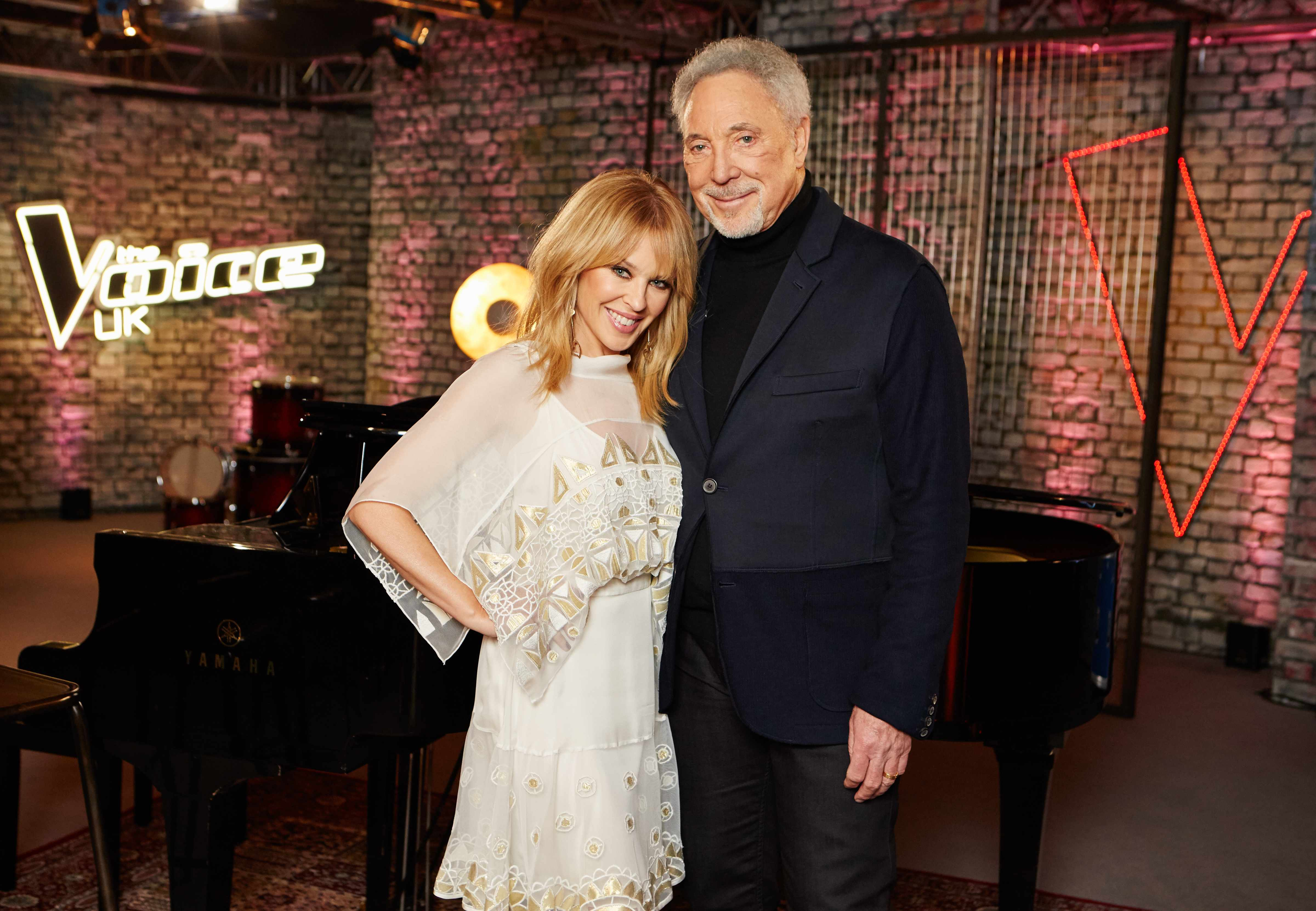 Kylie Minogue and Tom Jones on The Voice UK