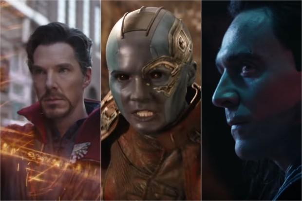 Benedict Cumberbatch, Karen Gillan and Tom Hiddleston Infinity War