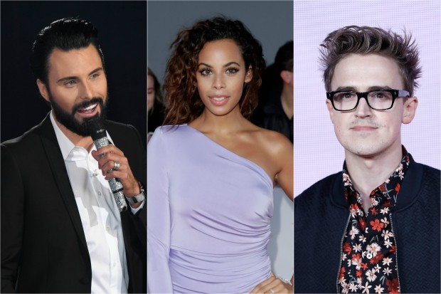 Rylan, Rochelle Humes, Tom Fletcher Eurovision You Decide