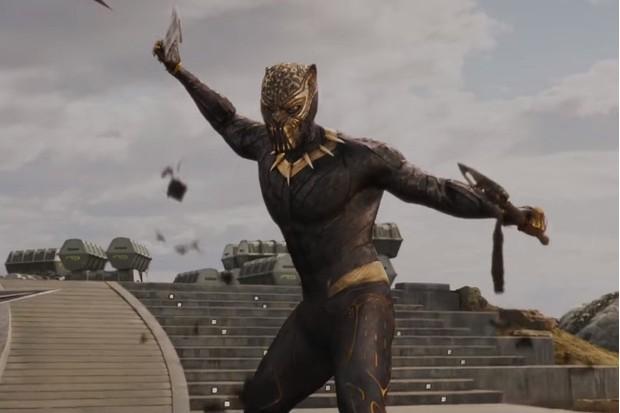 "Michael B Jordan's ""Golden Jaguar"" Black Panther costume (Marvel, HF)"