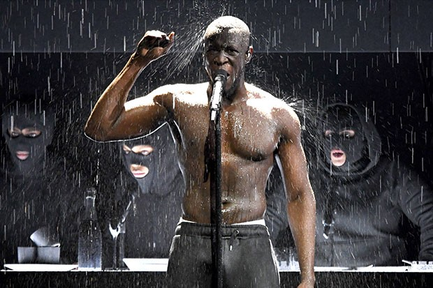 Stormzy performs at the Brit Awards, Getty, SL
