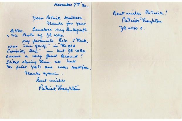 troughton letter 1980