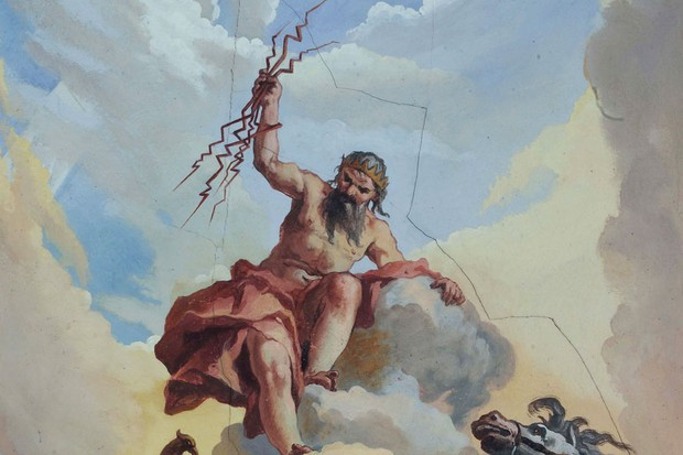 Zeus, as painted by Mauro Picenardi, 1766-1767