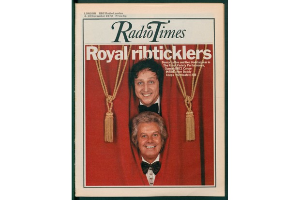 Ken Dodd and Danny La Rue on the cover of Radio Times