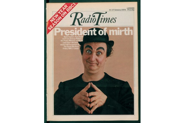 Ken Dodd on the cover of Radio Times
