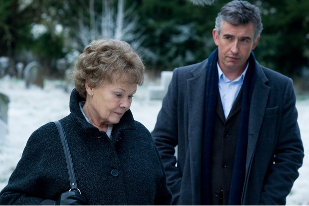 Judi Dench as Philomena Lee, Steve Coogan as Martin Sixsmith
