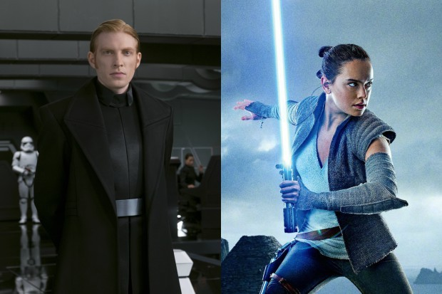 Domhnall Gleeson and Daisy Ridley in Star Wars: The Last Jedi (Lucasfilm, Disney, HF)