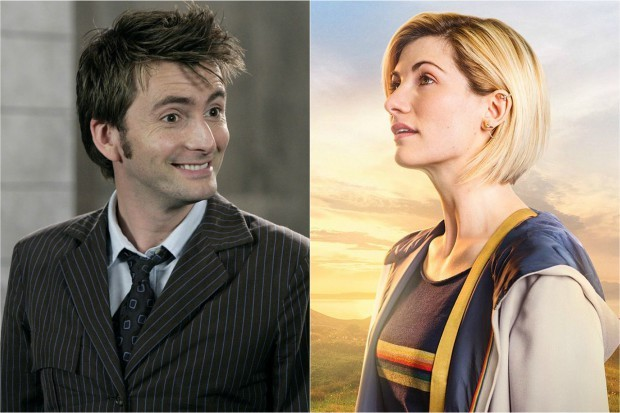 David Tennant and Jodie Whittaker in Doctor Who (BBC, HF)