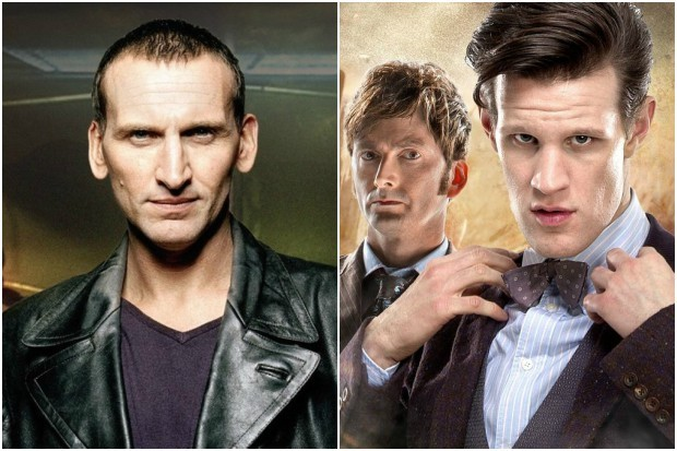Christopher Eccleston, David Tennant and Matt Smith in Doctor Who (BBC, HF)