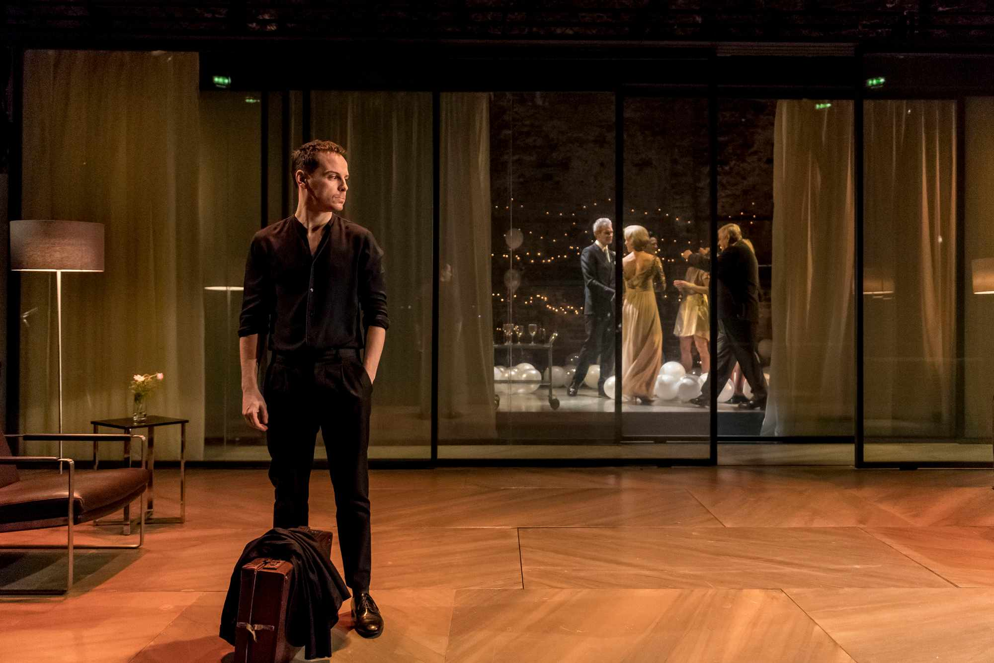 Programme Name: Performance Live - TX: 31/03/2018 - Episode: n/a (No. n/a) - Picture Shows: Andrew Scott as Hamlet, in the Almeida Theatre production directed by Robert Icke Andrew Scott - (C) Almeida Theatre - Photographer: Manuel Harlan