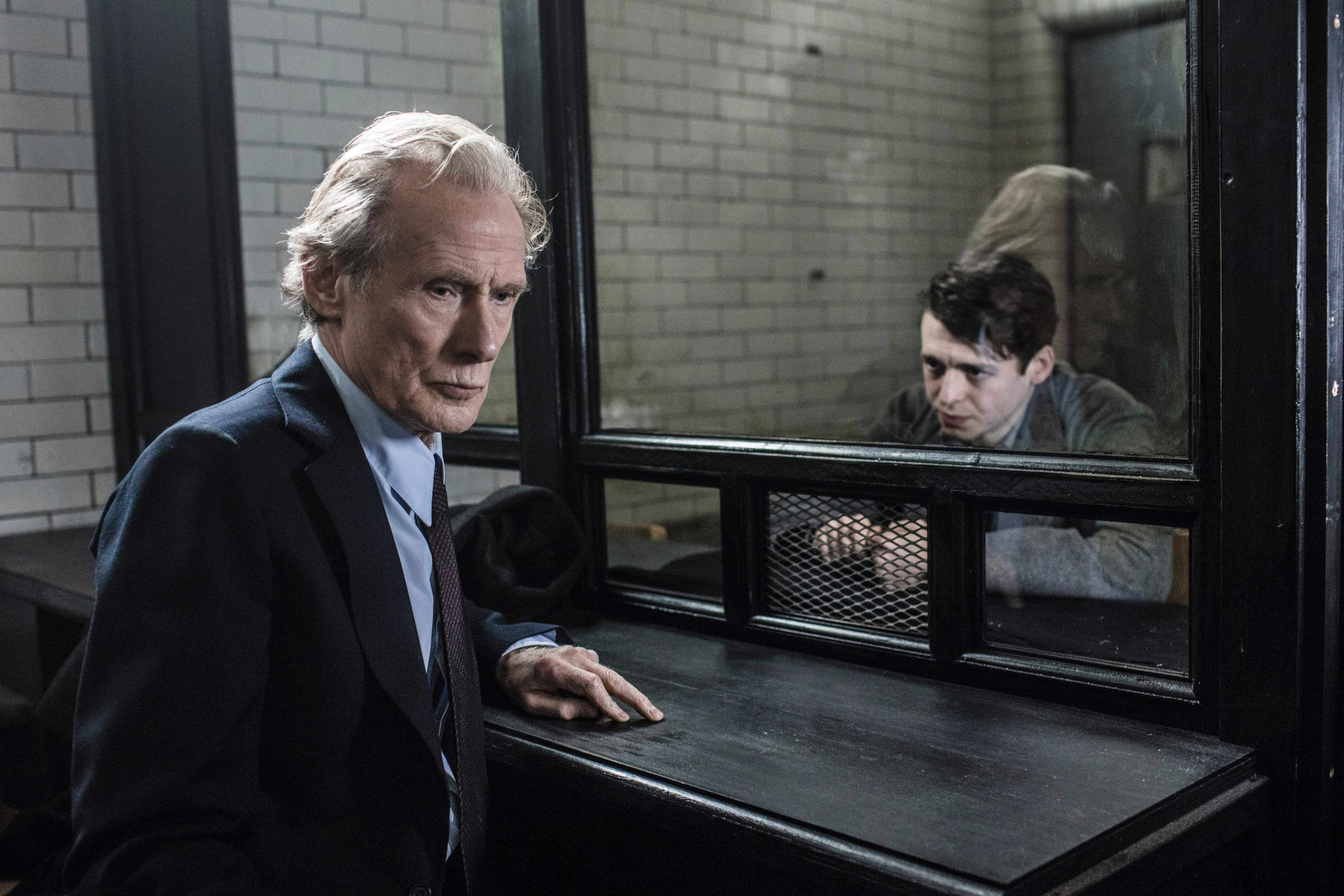 WARNING: Embargoed for publication until 00:00:01 on 27/03/2018 - Programme Name: Ordeal By Innocence - TX: n/a - Episode: n/a (No. 1) - Picture Shows:  Leo Argyll (BILL NIGHY), Jack Argyll (ANTHONY BOYLE) - (C) Mammoth Screen/ACL - Photographer: James Fisher