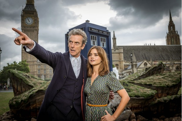 Peter Capaldi and Jenna Coleman in Doctor Who