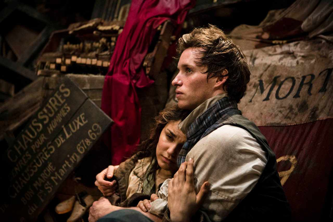 Les Miserables (2012) Samantha Barks as Eponine; Eddie Redmayne as Marius  © Universal Pictures