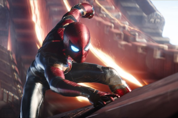 Tom Holland as Spider-Man in Avengers: Infinity War (Marvel, HF)