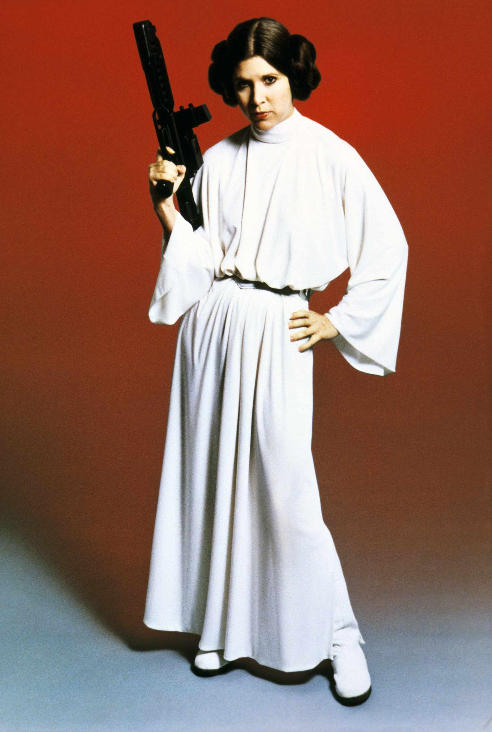 Carrie Fisher in Star Wars Episode IV: A New Hope (Sky, EH)