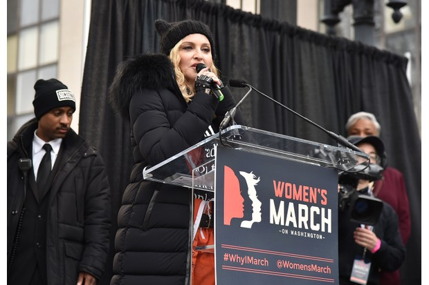 Madonna at the Women's March 2017 (Getty, EH)