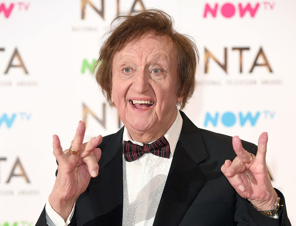 LONDON, ENGLAND - JANUARY 25:  Ken Dodd poses in the winners room at the National Television Awards at The O2 Arena on January 25, 2017 in London, England.  (Photo by Karwai Tang/WireImage)