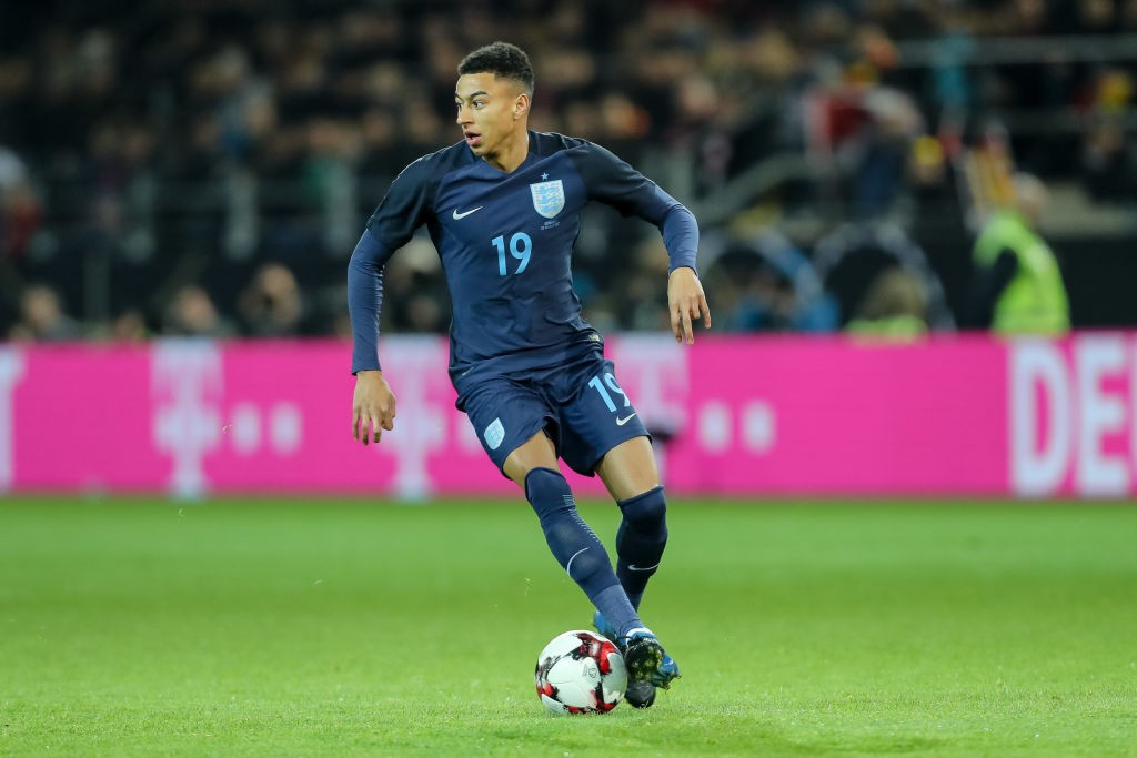 DORTMUND, GERMANY - MARCH 22: Jesse Lingard of England controls the ball during the international friendly match between Germany and England at Signal Iduna Park on March 22, 2017 in Dortmund, Germany. (Photo by TF-Images/Getty Images)