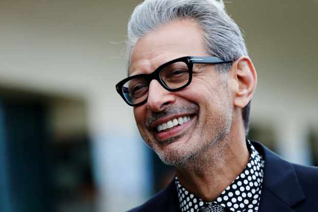 US actor Jeff Goldblum poses in front of his dedicated beach locker room  on the Promenade des Planches on September 3, 2017, in the northwestern sea resort of Deauville, during the 43rd Deauville US Film Festival. / AFP PHOTO / CHARLY TRIBALLEAU        (Photo credit should read CHARLY TRIBALLEAU/AFP/Getty Images)  Getty, TL