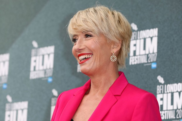 "LONDON, ENGLAND - OCTOBER 06:  Emma Thompson attends the Laugh Gala and UK Premiere of ""The Meyerowitz Stories"" during the 61st BFI London Film Festival on October 6, 2017 in London, England.  (Photo by Tim P. Whitby/Getty Images for BFI)"