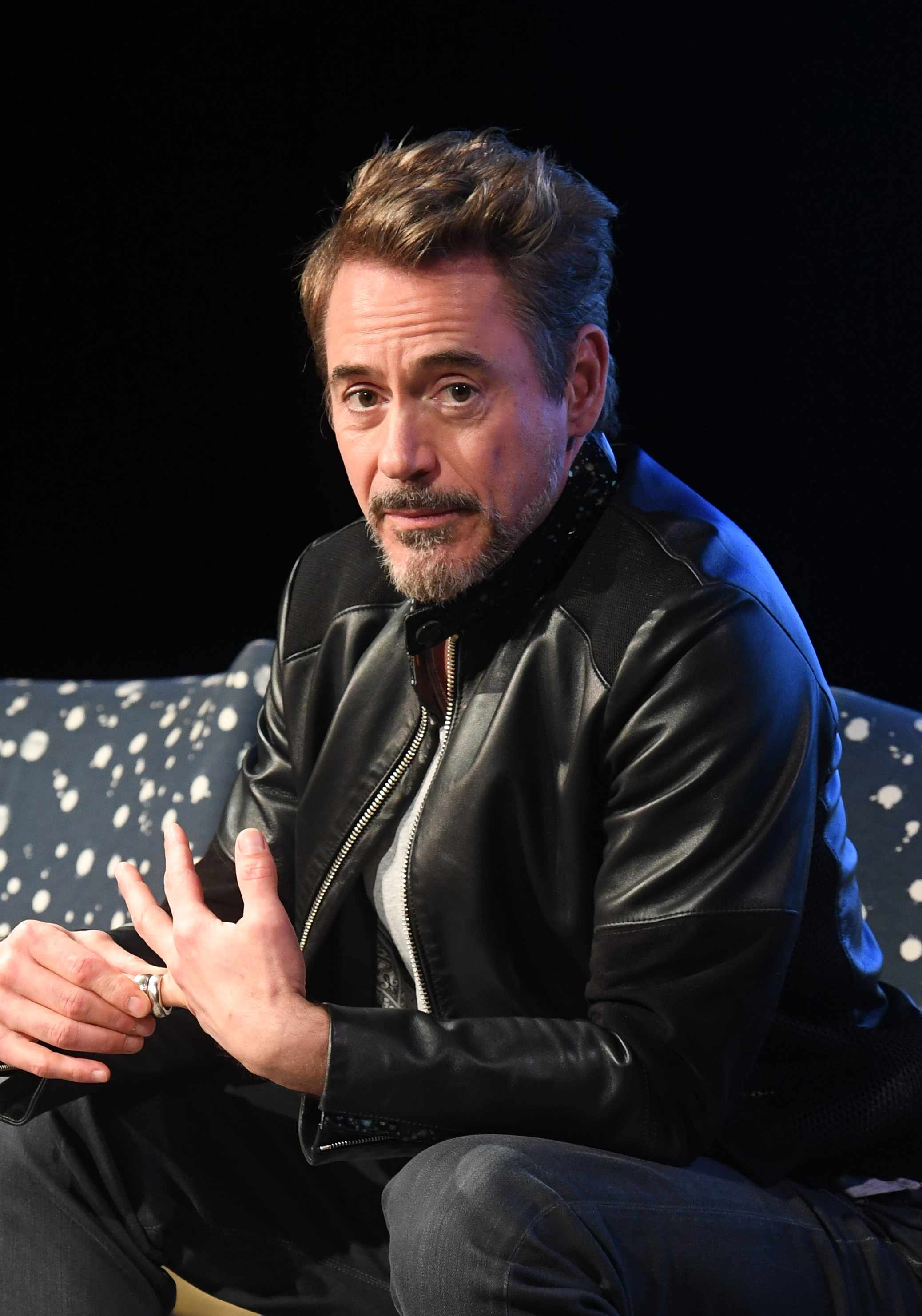 "ATLANTA, GA - NOVEMBER 29:  Actor Robert Downey Jr. speaks onstage at ""Wind River"" special screening at SCADShow on November 29, 2017 in Atlanta, Georgia.  (Photo by Paras Griffin/Getty Images for WIND RIVER)  Getty, TL"