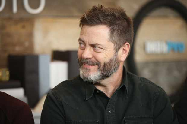 "PARK CITY, UT - JANUARY 21:  Actors  Nick Offerman of ""White Fang' attends The IMDb Studio and The IMDb Show on Location at The Sundance Film Festival on January 21, 2018 in Park City, Utah.  (Photo by Rich Polk/Getty Images for IMDb)  Getty, TL"