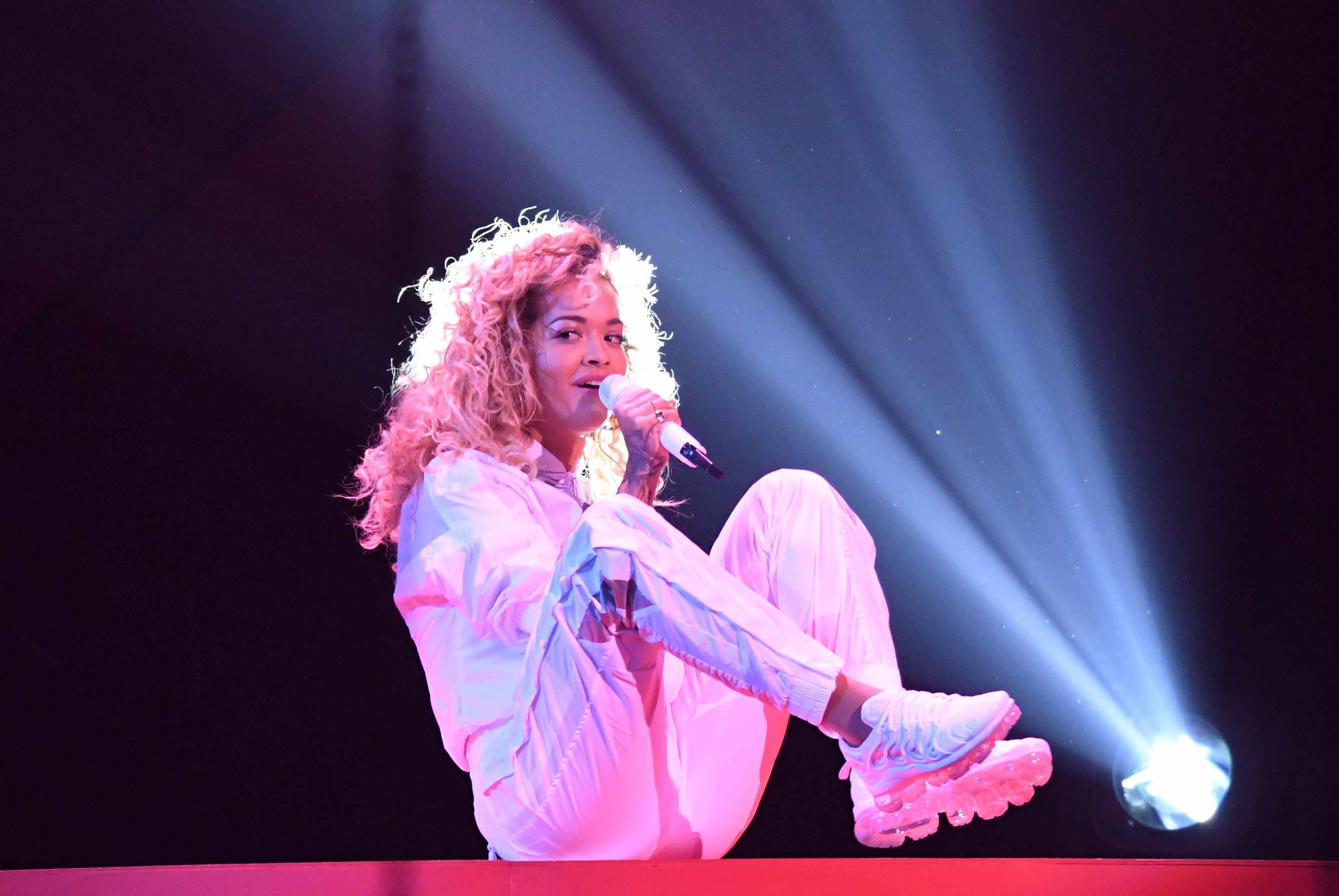 Rita Ora performs at the BRIT Awards 2018