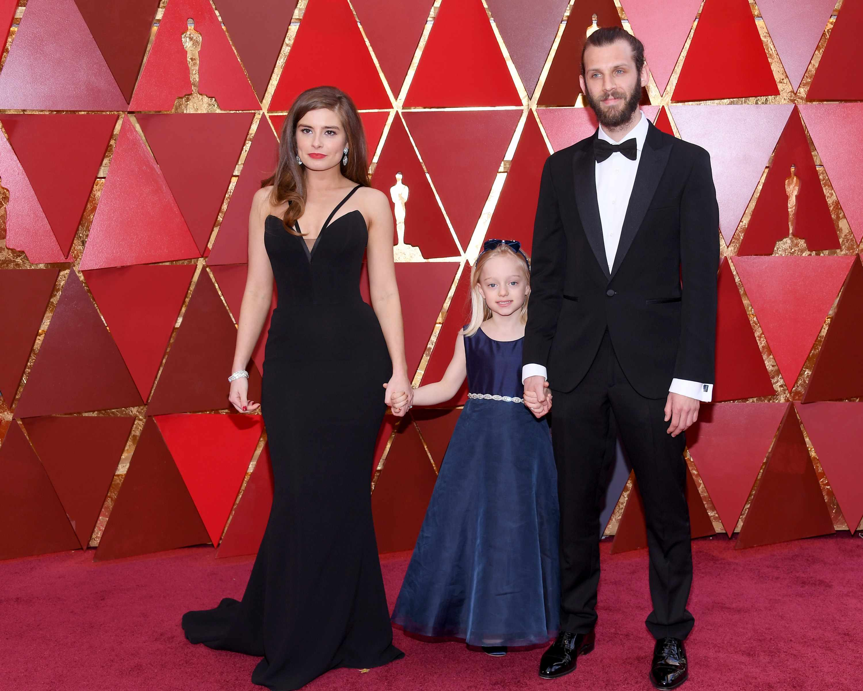 The Silent Child's Rachel Shenton, Maisie Sly, and Chris Overton at the Oscars