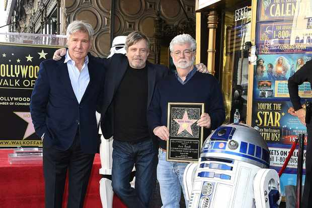 Harrison Ford, Mark Hamill and George Lucas (Getty, EH)